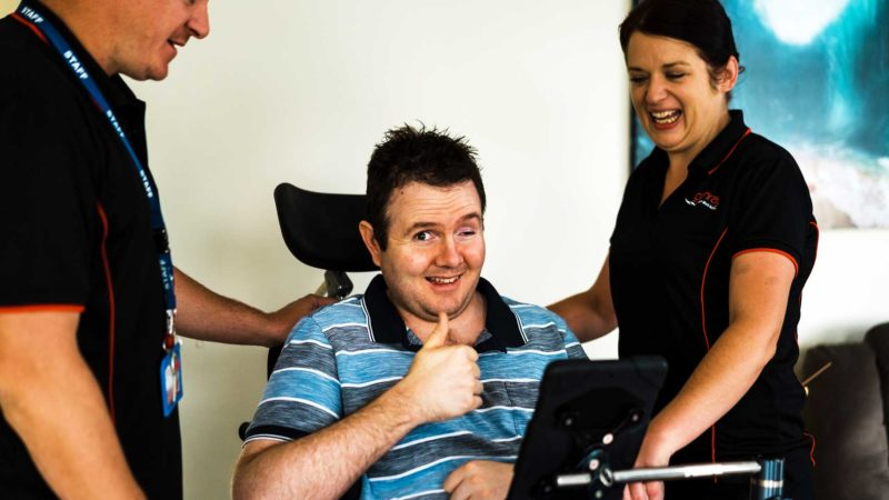 Wheelchair Thumbs Up | Glenray Industries, Bathurst